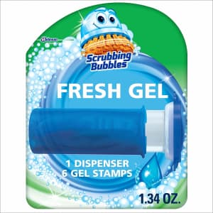Scrubbing Bubbles Fresh Gel Toilet Bowl Cleaning Stamps 6-Count for $3