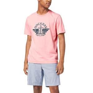 Dockers Men's Logo T-Shirt, Quartz Pink, Medium for $17