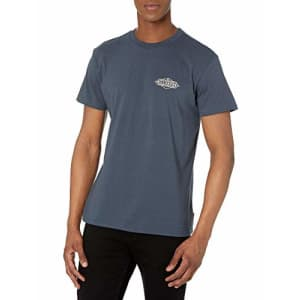 Billabong Men's Classic Short Sleeve Premium Logo Graphic Tee T-Shirt, Coast Navy, Medium for $26