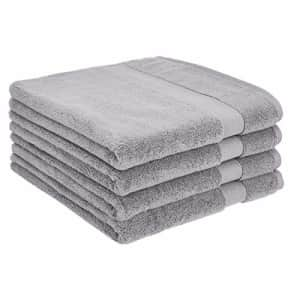 AmazonBasics Dual Performance Bath Towel - 4-Pack, Silver Sheen for $39