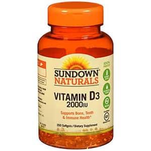 Sundown Naturals Super Potency Vitamin D3, 2000 IU, Value Size, 300 Softgels for $27