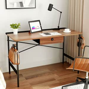 """Arts Wish 47"""" Home Office Desk with Drawer for $50"""