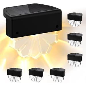 Ltteeny LED Solar Deck Lights 6-Pack for $26