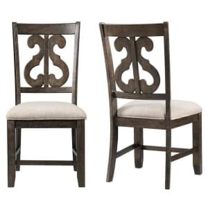 Picket House Furnishings Stanford Swirl Back Chair 2-Pack for $132