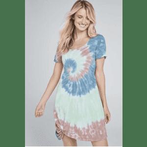 Venus Women's Tie Dye Knotted Lounge Dress for $37