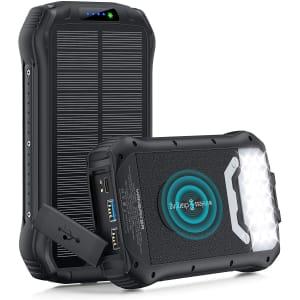 Yansaker 26,800mAh Wireless Solar Charger for $50