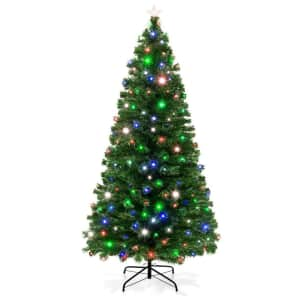 Best Choice Products 7-Ft. Fiber Optic Artificial Christmas Pine Tree for $80
