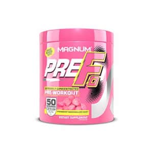 Magnum Nutraceuticals PRE-FO Pre-Workout Powder - 50 Servings Strawberry Marshmallow for $40