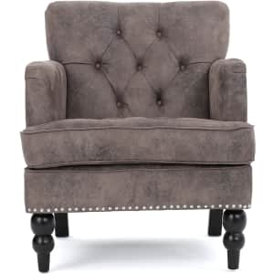 Medford Brown Tufted Club Chair for $276