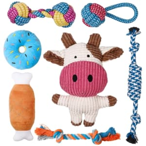 Toozey 7-Pack of Dog Toys: 50% off, from $7