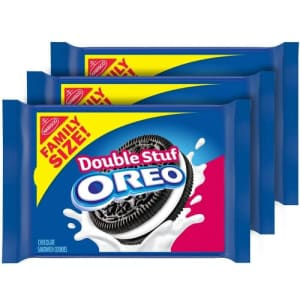 Oreo Double Stuf Chocolate Cookies 3-Pack for $7.89 via Sub & Save