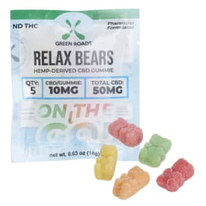 Green Roads CBD 50mg Relax Bears Gummies for $6