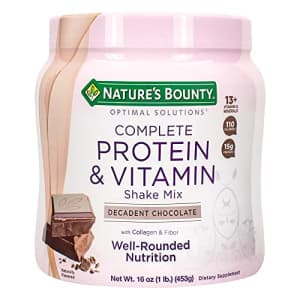 Nature's Bounty Complete Protein & Vitamin Shake Mix with Collagen & Fiber, Contains Vitamin C for for $10