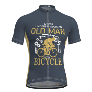 """21Grams """"Never Underestimate an Old Man with a Bicycle"""" Men's Short Sleeve Cycling Jersey for $7"""