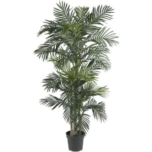 Nearly Natural 6.5ft. Golden Cane Palm Silk Tree for $121