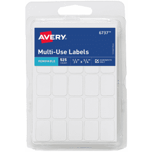 """Avery .5"""" x .75"""" Removable Labels 525-Pack for $4"""