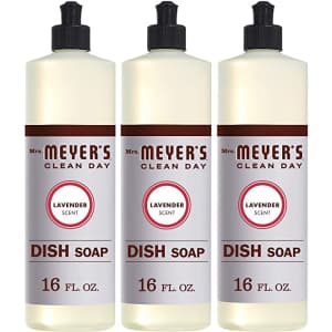 Mrs. Meyer's Clean Day 16-oz. Liquid Dish Soap 3-Pack for $12