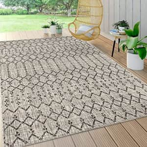 JONATHAN Y Ourika Moroccan Geometric Textured Weave Indoor/Outdoor Gray/Black 5 ft. x 8 ft. Area for $84