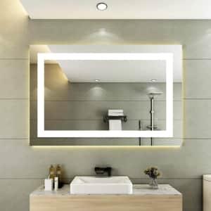 "Forshine 28"" x 36"" LED Bathroom Mirror for $150"