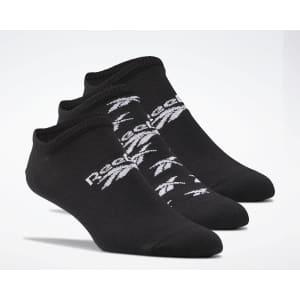 Reebok Men's Classics Invisible Socks 3-Pair Pack for $7