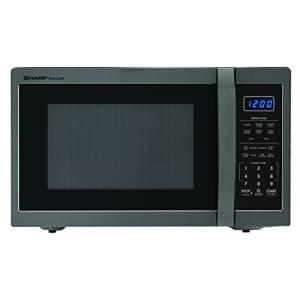 SHARP ZSMC1452CH 1,100 Watt Countertop Microwave Oven, 1.4 Cubic Foot, Black Stainless Steel for $229