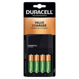 Duracell Ion Speed 1000 Battery Charger w/ Batteries for $13