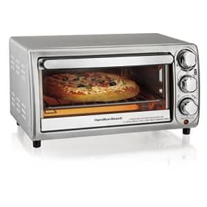 Hamilton Beach 4-Slice Countertop Toaster Oven with Bake Pan, Stainless Steel (31143) for $79