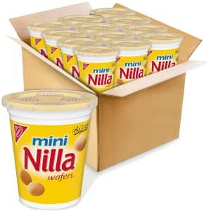 Nabisco Mini Vanilla Wafer Go-Paks 12-Pack for $12