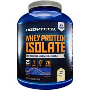 BodyTech Whey Protein Isolate Powder with 25 Grams of Protein per Serving BCAA's Ideal for for $70