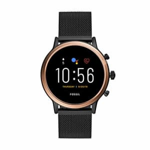 Fossil Gen 5 Julianna HR Heart Rate Stainless Steel Mesh Touchscreen Smartwatch, Color: Rose Gold, for $280
