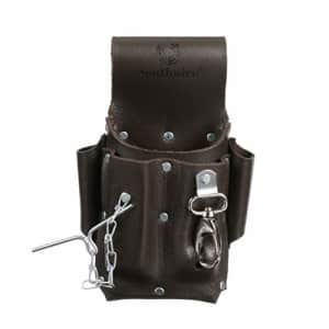 Southwire Tools & Equipment POUCH4 Leather Tool Pouch, 5 Pocket Pouch with Electrical Tape Chain, for $26