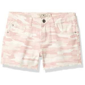Lucky Brand Girls Shorts, Clarissa Camo Rose, 12 Big Kids for $24