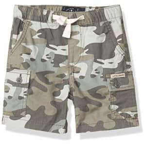 Lucky Brand Boys' Pull on Shorts, Smoked Pearl Camo Cargo, S for $35