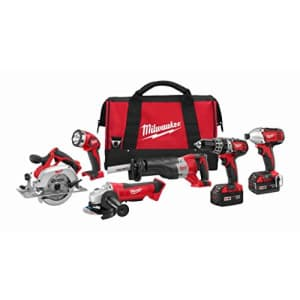 Milwaukee M18 Cordless LITHIUM-ION 6-Tool Combo Kit (2696-26) for $664