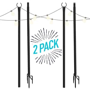 Holiday Styling 8.5-Foot String Light Pole 2-Pack for $70