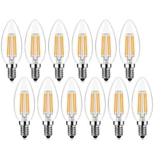 Edison E12 40W Candelabra Bulb 12-Pack for $13