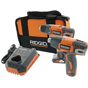 Ridgid R9000K 12V Hyper Lithium-Ion Drill / Driver Combo Kit (Includes: 1 x R82005 Drill, 1 x for $145