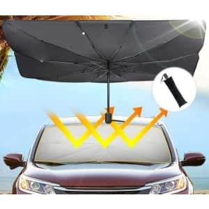 JoyTutus Foldable Car Windshield Sun Shade Umbrella for $26