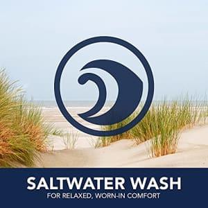 "IZOD Men's Saltwater Stretch 9.5"" Chino Printed Shorts, Cadet Navy Flamingos, 34 for $36"