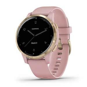 Garmin vivoactive 4S, Smaller-Sized GPS Smartwatch, Features Music, Body Energy Monitoring, for $274