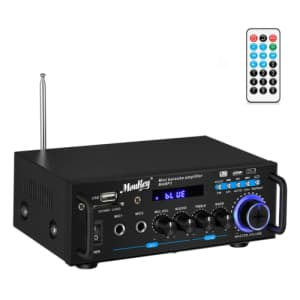 Moukey Bluetooth Home Audio Stereo Amplifier for $22