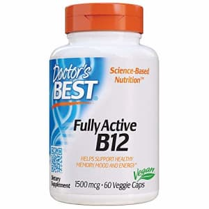 Doctor's Best Fully Active B12 1500 mcg, Non-GMO, Vegan, Gluten Free, Supports Healthy Memory, Mood for $7