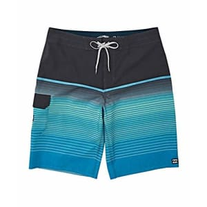 Billabong Men's 20 Inch Outseam Performance Stretch All Day Pro Boardshort, Blue, 32 for $50