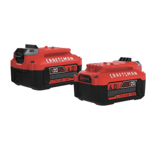 Craftsman 20V 4Ah Lithium-Ion High Capacity Battery 2-Pack for $79 for members