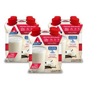 Atkins Meal Size Vanilla Cream Protein-Rich Shake. With High-Quality Protein. Keto-Friendly and for $34
