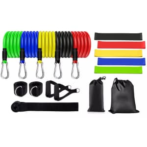 Workout Resistance Band 17-Piece Set for $16