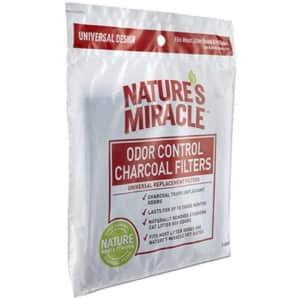 Nature's Miracle Odor Control Universal Charcoal Filter 2-Pack for $1