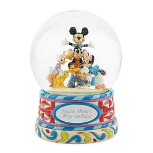 Make-A-Wish Disney Traditions Mickey and Friends Snow Globe for $32