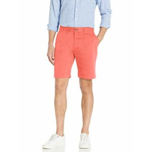 Tommy Hilfiger Men's Casual Stretch Chino Shorts, Cranberry, 29 for $75
