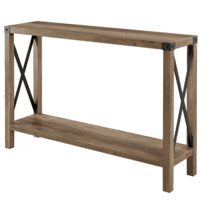 Saracina Home Sophie Farmhouse X Frame Entry Table for $126